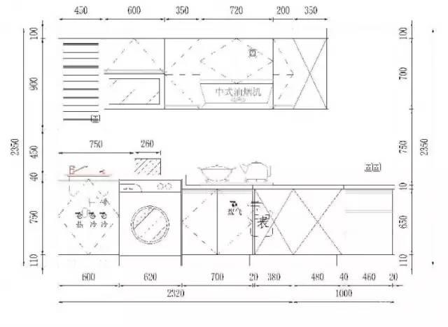 石材橱柜,台面如何设计?尺寸大全!很干货!图片