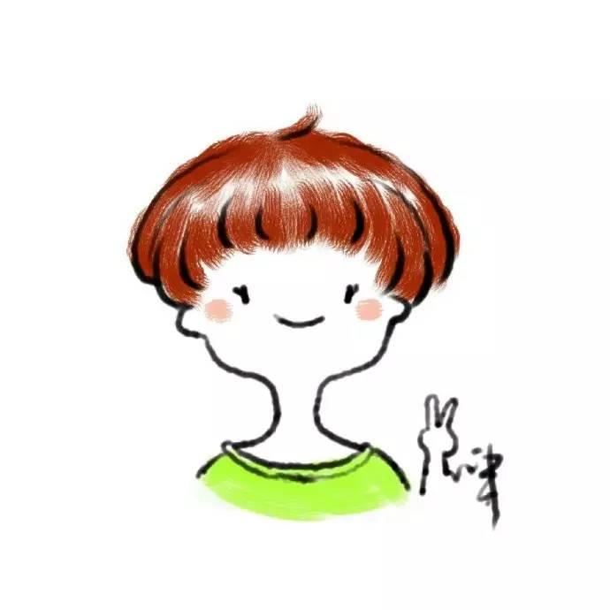 机灵搞怪的女生卡通微信头像!图片