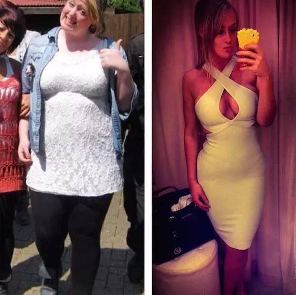 21天减肥法前后对比照片图片