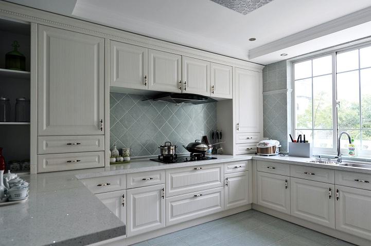 郑州思念果岭400平别墅欧式风格装修效果图——厨房装修效果图