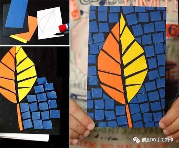 亲子手工 撕纸创意拼贴画