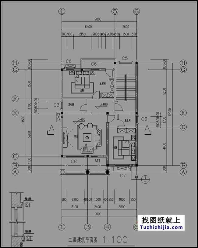 105平房屋四层复式农村设计图,设计合理联想笔记本建筑设计图片
