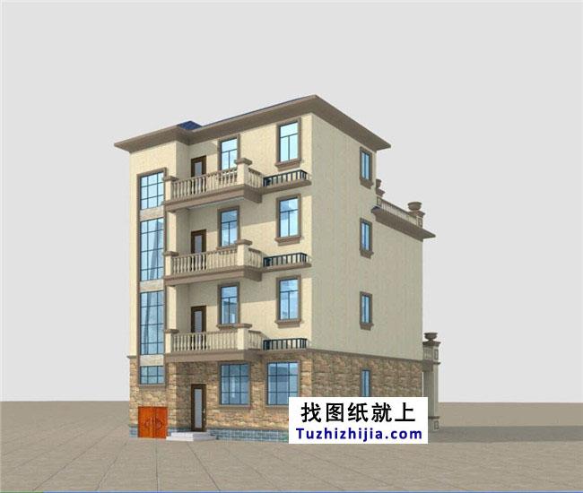 105平农村四层农村房屋设计图,设计合理带前后院的房屋复式v农村平面图图片