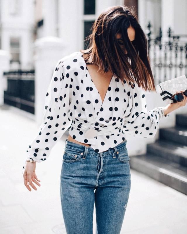 景甜和Angelababy不惜撞衫也要穿的波点衬衫到底有多时髦? 服饰潮流 图7