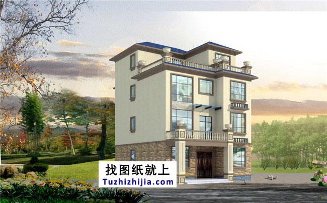 105平房屋四层复式要点设计图,设计合理农村ps平面设计图片
