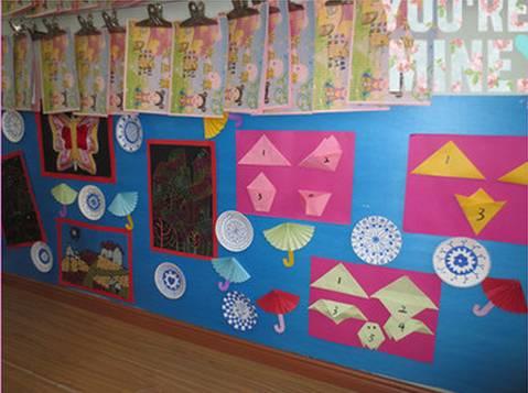 开学专用 把美工区的墙面设计的美美的,孩子们才能爱上美工喔!图片