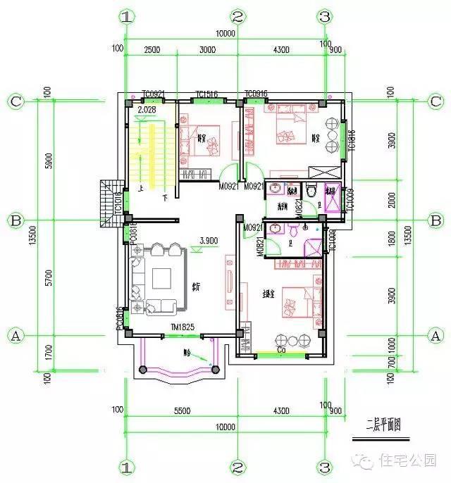 4x8米自建房平面图