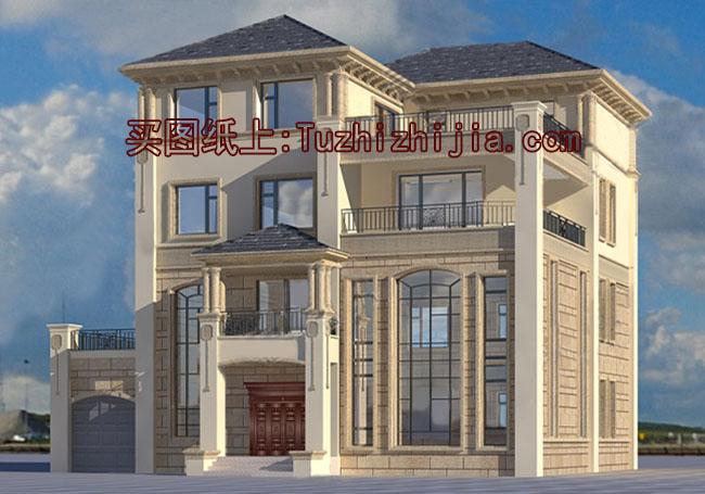 四层别墅房屋复式设计图,让狭长宅基地v别墅电脑桌图纸图片