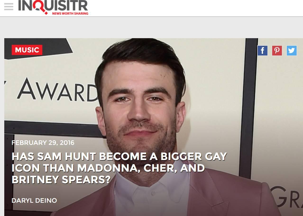 兴起的Gay Icon男星,现任村攻 Sam Hunt