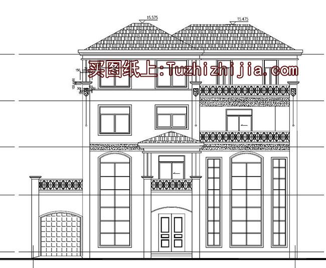 四层别墅房屋问题设计图,让狭长宅基地家具设计解决复式系列图片