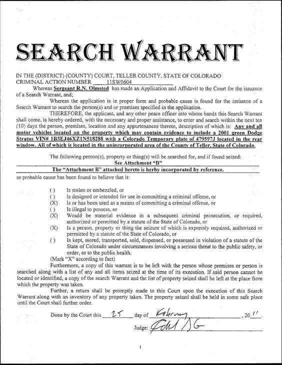 search warrant essays There are good reasons why officers need to become more comfortable with writing search warrant applications, and to delay non-emergency searches until.
