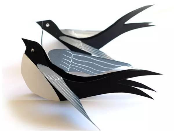 卡纸燕子手工制作