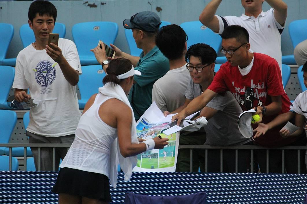 v网球 2017中国网球公开赛,为江西金花加油,赢武术彬图片