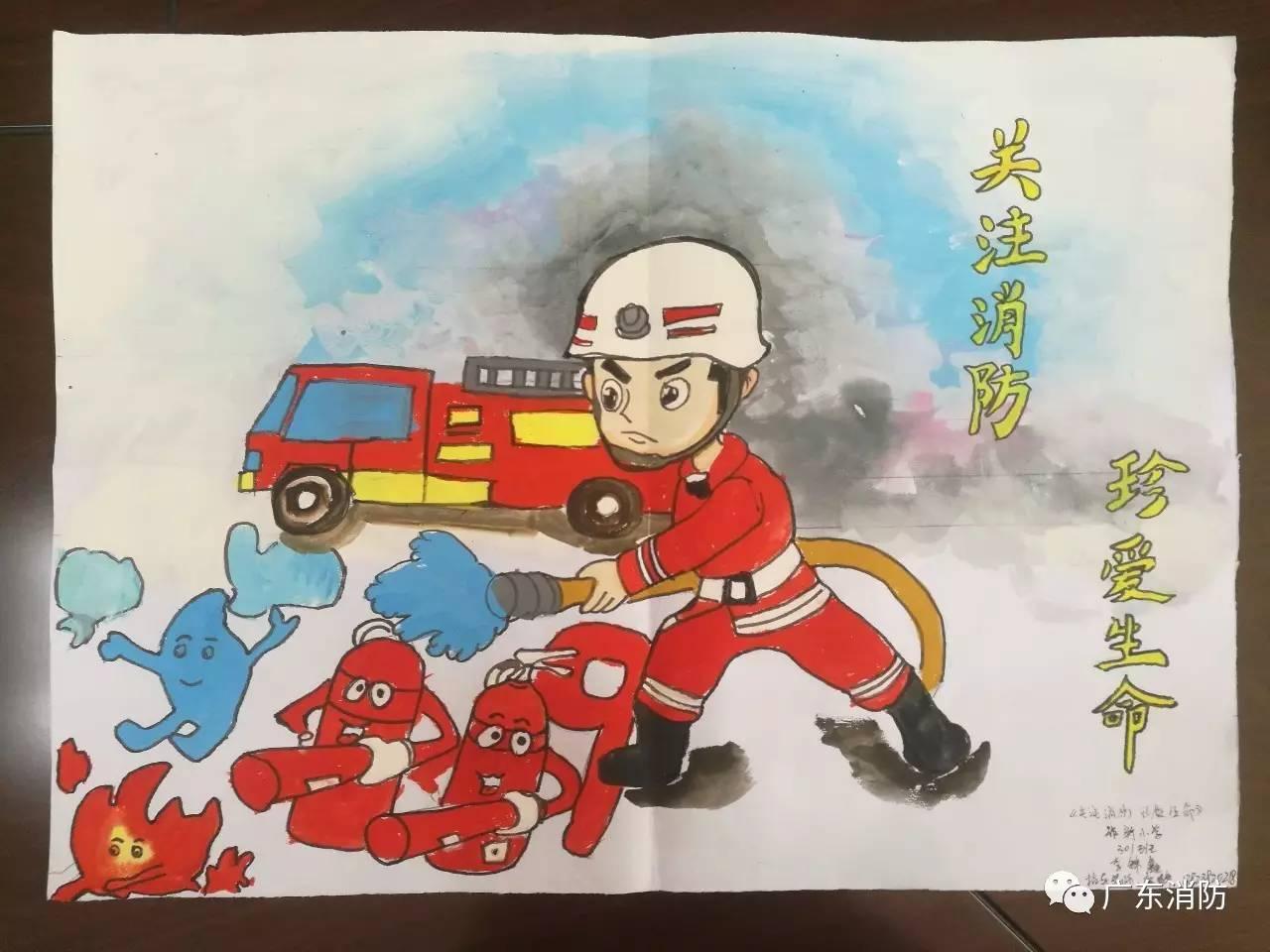 我是小小消防员 第二届儿童消防绘画作文竞赛开始投票啦 绘画篇
