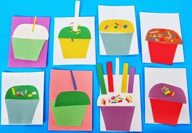 幼儿园创意贴贴画手工,好美