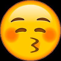笑脸,捂脸,亲亲各种表情包英语怎么说?图片
