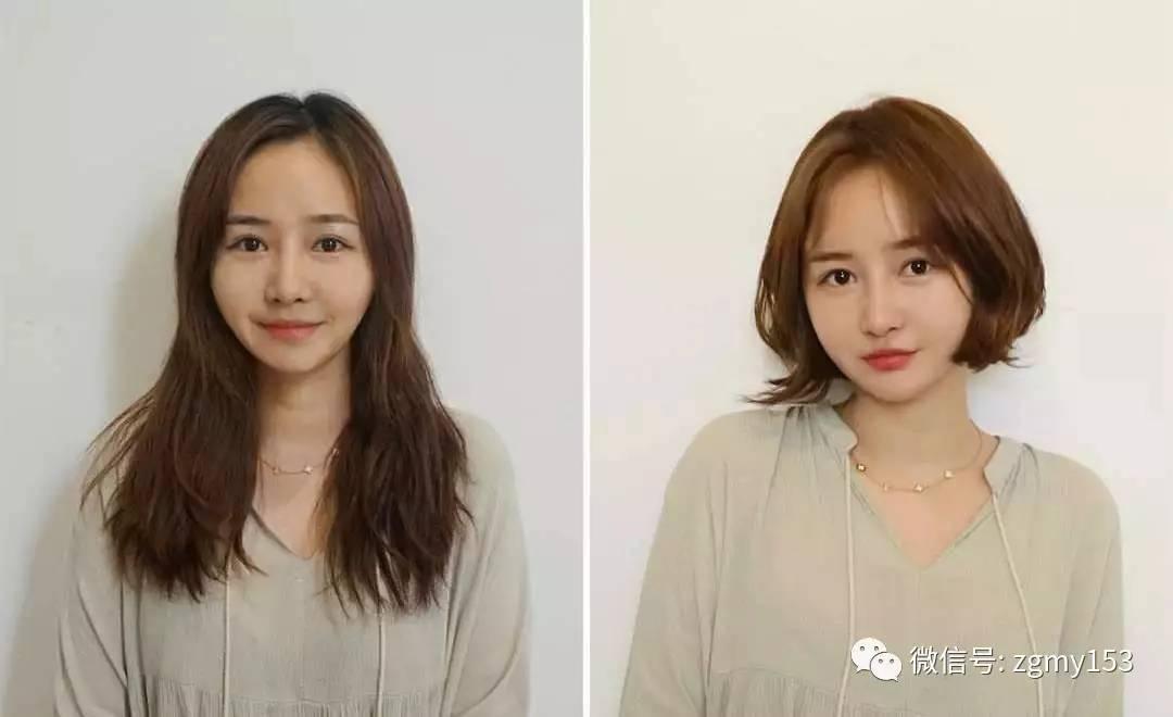 长发与短发对比!差别真的很大图片