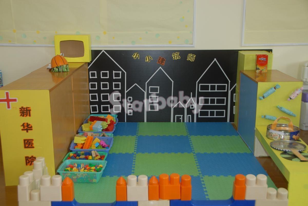 建构区:游戏,材料投放,墙面布置,都在这里了!图片