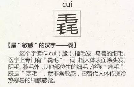 史上最难认的22个汉字