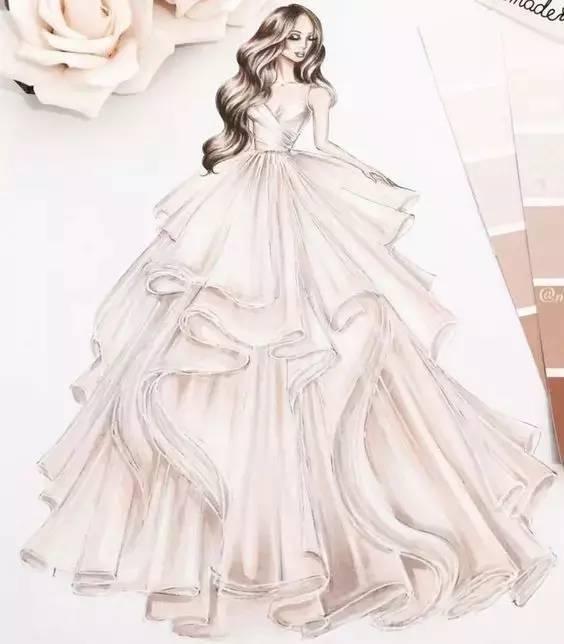 手绘婚纱礼服【效果图】80张(强势来袭/勾起的手绘梦)