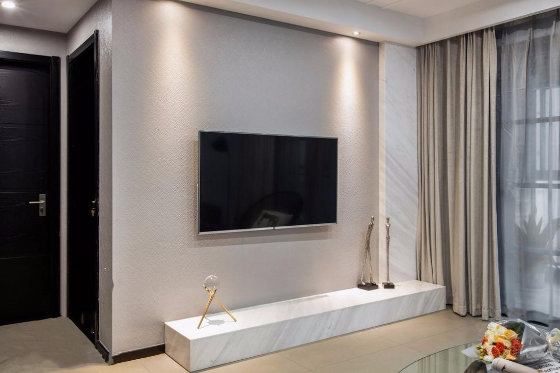 现代简约机顶盒壁挂式电视柜置物架悬挂式电视墙卧... -苏宁易购