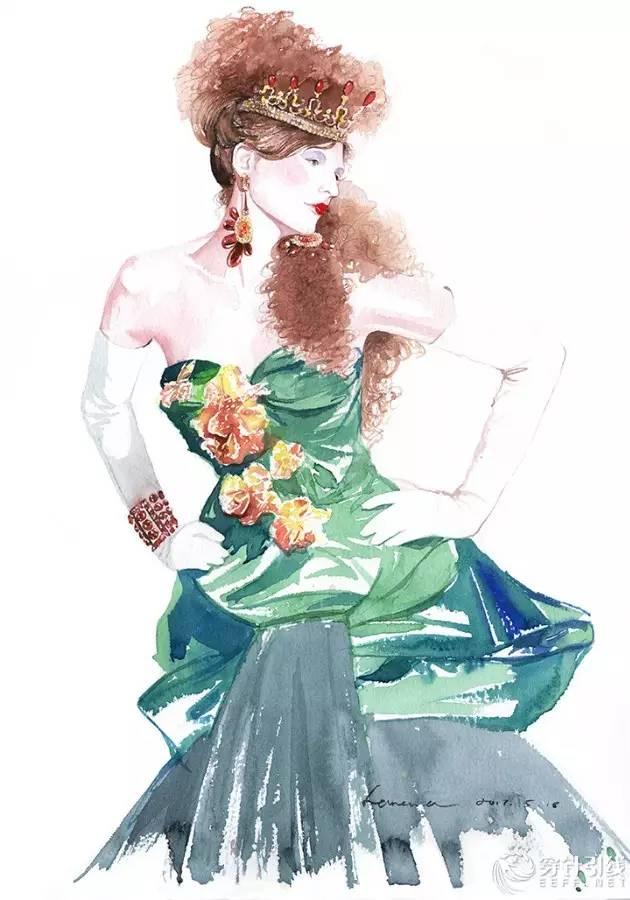 时装手绘 | hanana 近期时装画作品