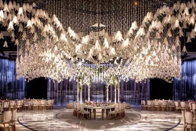 每个女孩都在梦想的梦幻般的婚礼现场!