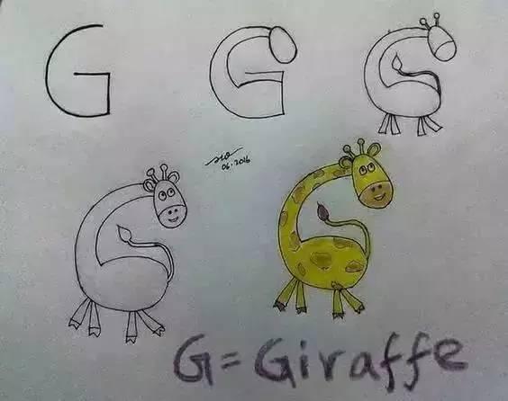 太好玩 字母变身简笔画 孩子一下子把画画和英语都学会了