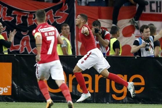 里瓦尔多儿子进球!欧联杯率队逼平毕尔巴鄂竞技