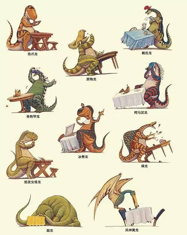 返团风靡|这套预告美国17年,销量1400万的图纸绘本,用滑翔伞伞头恐龙