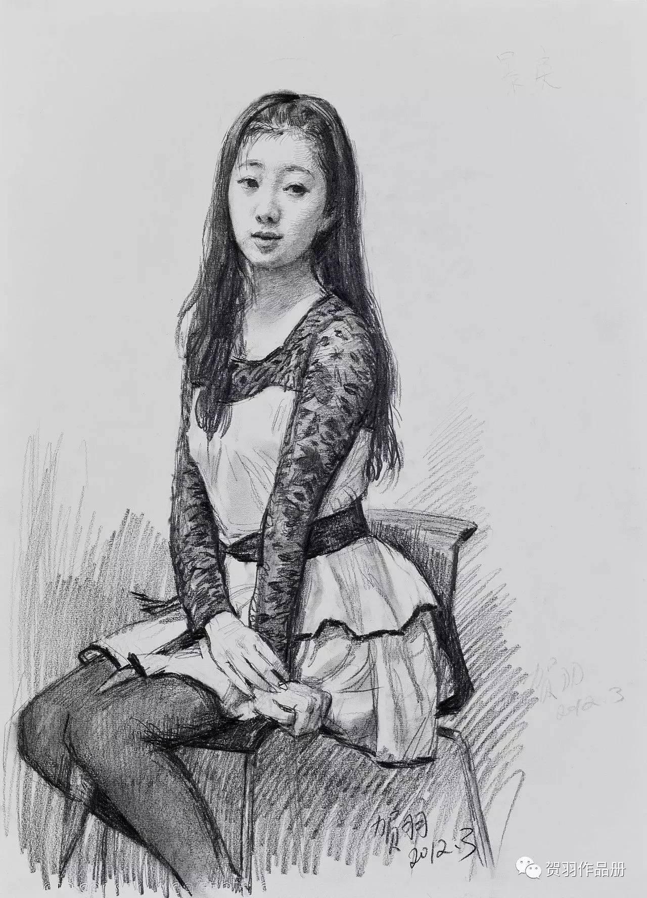 中央美院教师贺羽素描作品