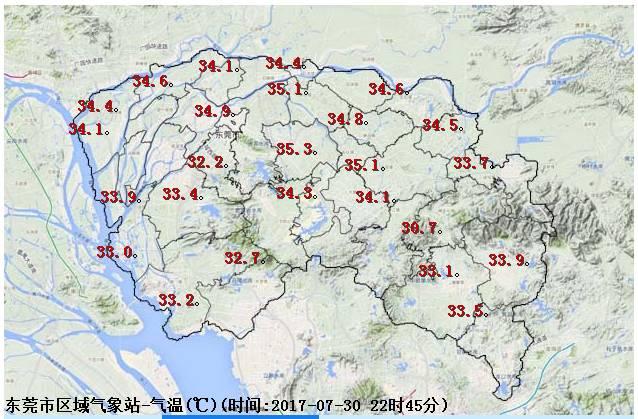 东莞未来三天的天气还热不