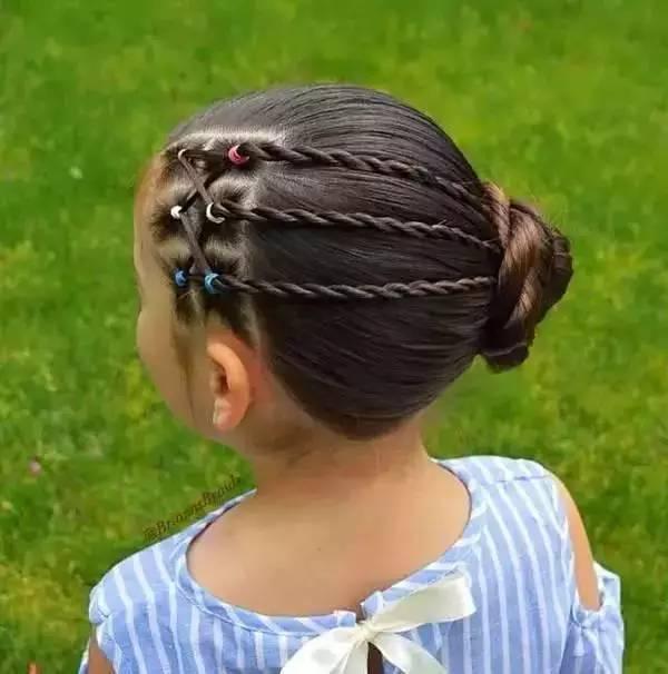45款小女孩编发发型大全,头顶都能编出