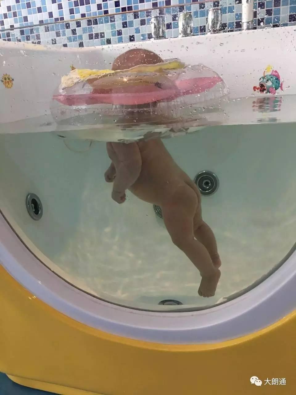 60元3次婴儿游泳 大朗这家婴儿游泳馆,连折衣服的姐姐都是医护人员