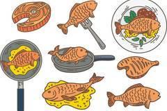 红烧鱼卡通简笔画 鱼简笔画 鱼卡通简笔画 一盘红烧鱼的简笔画 八熊网