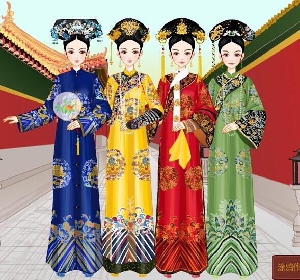 """""""在清朝,后妃等级大体可分为八级,分别为:皇后,皇贵妃,贵妃,妃,嫔图片"""