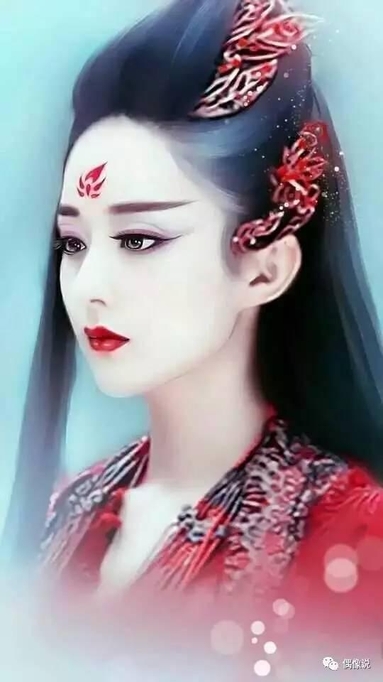 众女星手绘版,赵丽颖热巴古装美得惊艳,baby李沁只活