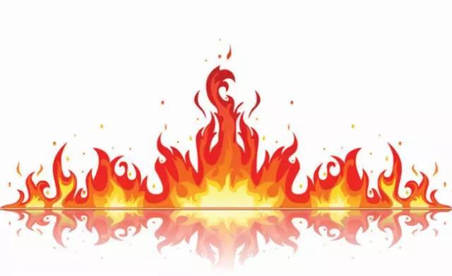 素材公社 矢量图 矢量素材 简笔画 精美火焰矢量素材