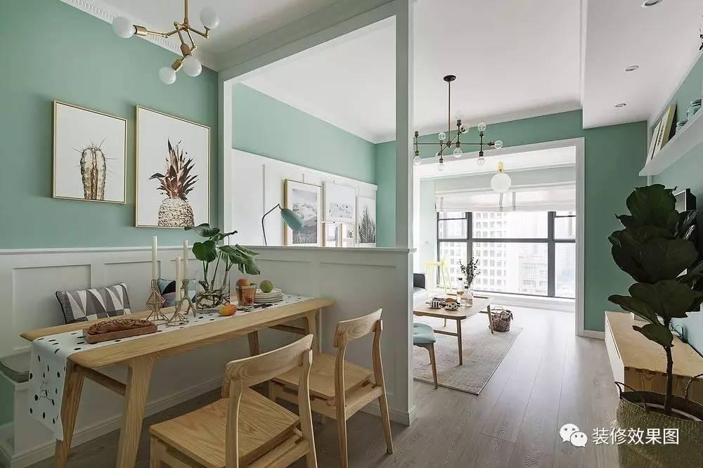 92㎡清新北欧风,客厅隔断还能这样设计!