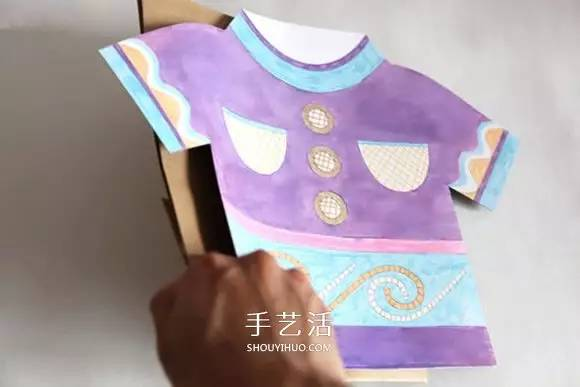 简单又可爱 手工制作衣服造型环保纸袋图解