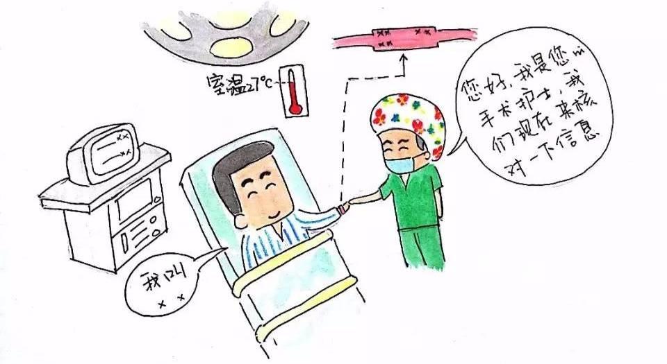 当您进入手术间后,手术室护士会跟您核实信息并做一系列的手术准备图片