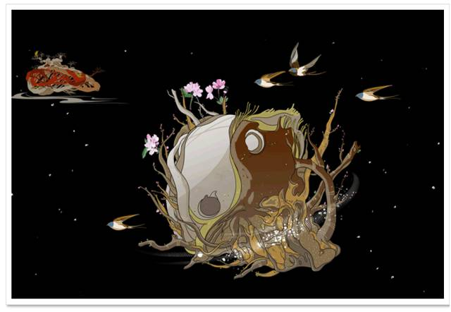 明明插画之24节气系列 (雨水) 明明插画之朝圣西藏系列 (布达拉宫