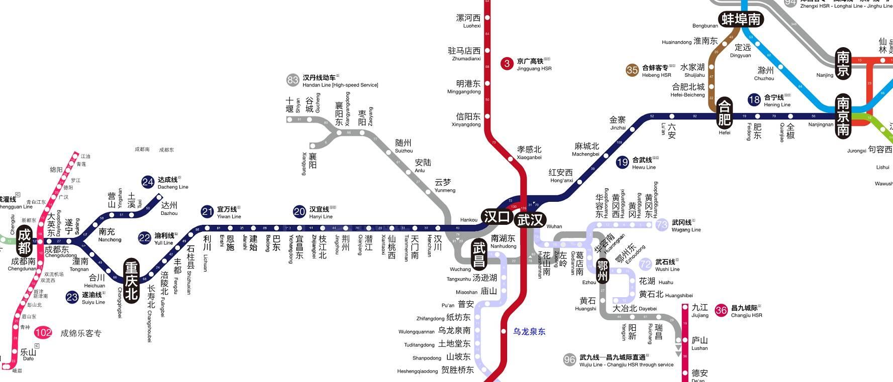 终于有神人把全国高铁图画得像坐地铁一样方便,赶紧收藏了!