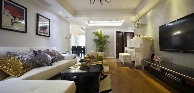 案例 最新110平现代风格三室两厅两卫,太棒了.井地下室窗图片