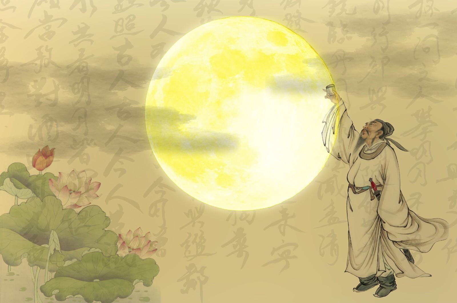 诗人李白遇上英文他的这首诗,英文翻译得太妙