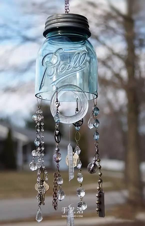 玻璃瓶diy风铃的方法 自制玻璃风铃图解教程