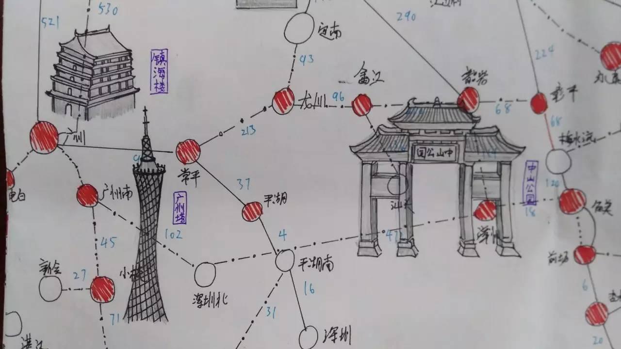 世界著名建筑手绘图简单