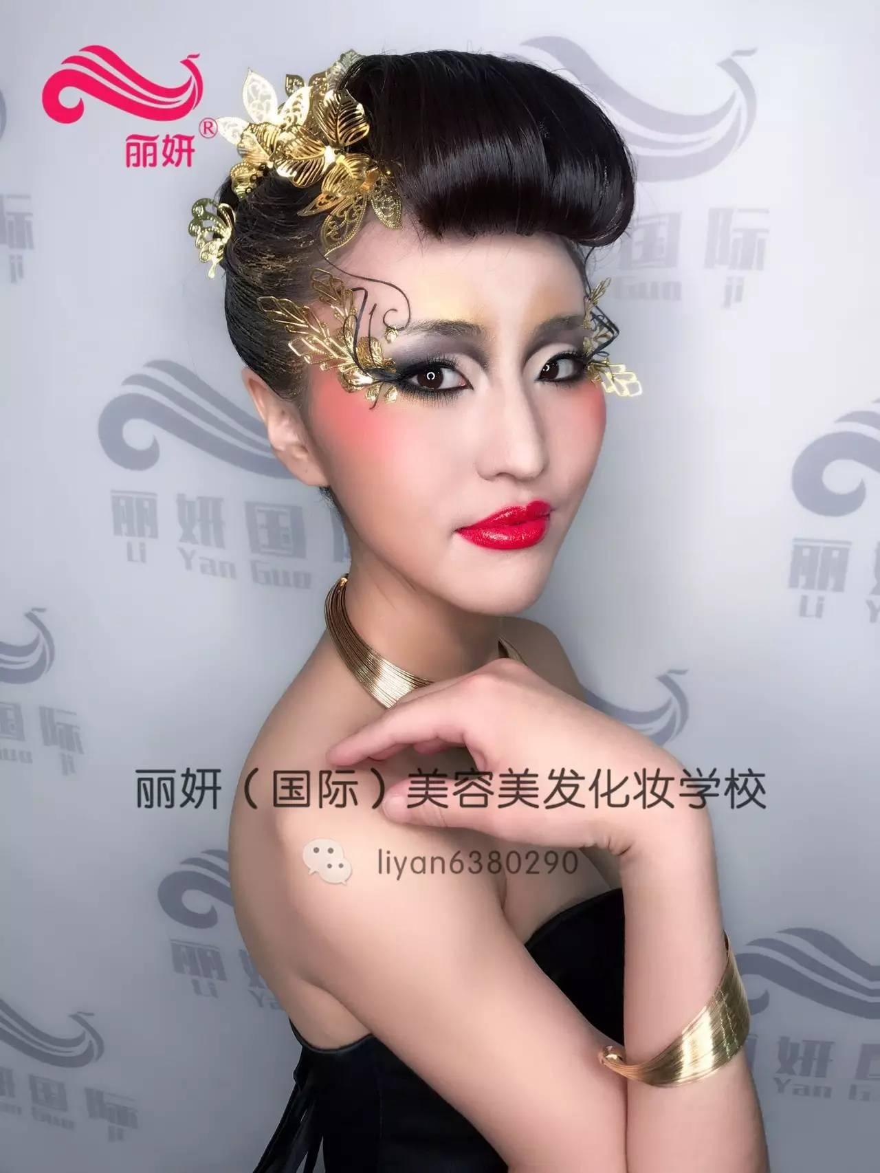 奇特的创意化妆造型设计图片