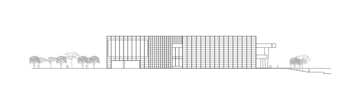 建筑的中心区域由三个各具特色的空间元素构成:三层层叠设置的美术馆图片