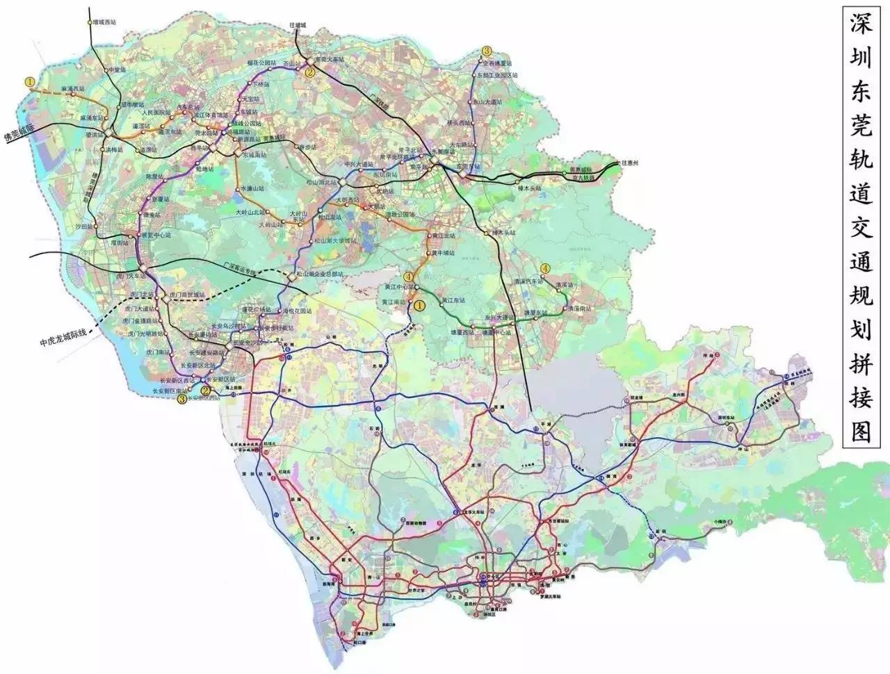 东莞交通最新规划图